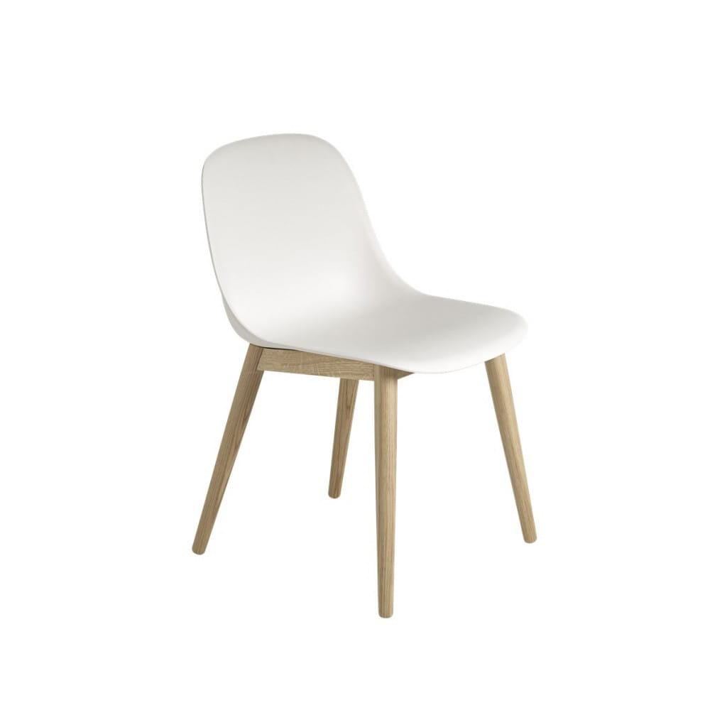 Fiber Sidechair - Woodbase - White