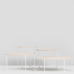 Poly-top - Set of tables - Ash/White