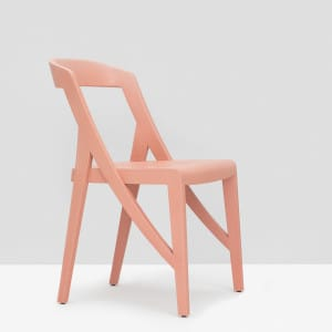 Wood-lock Chair - Dusty Pink
