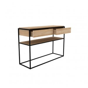 Oak Monolit console - Natural : Black 2