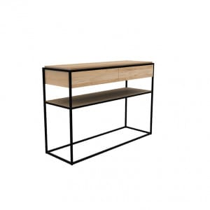 Oak Monolit console - Natural : Black
