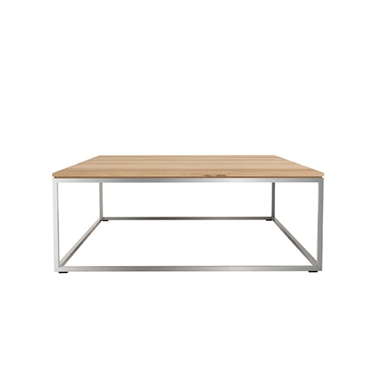 Thin coffee table - Stainless steel frame