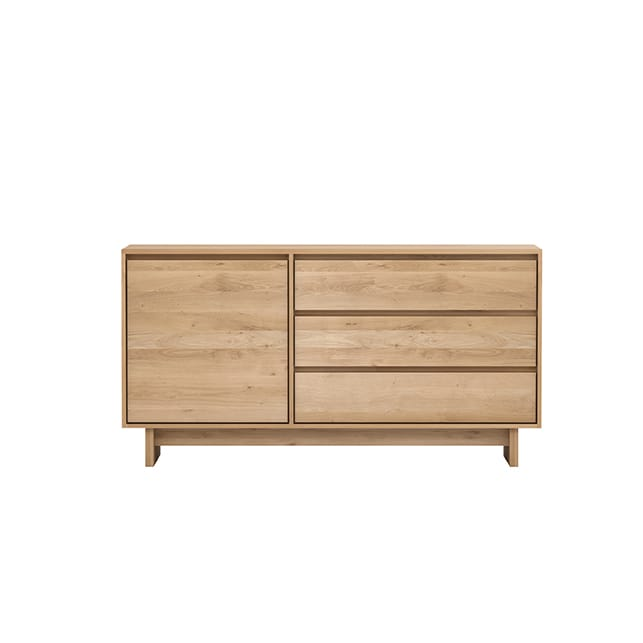 Wave sideboard - 1 opening door 3 drawers